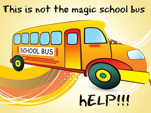 school bus bookworm homeschool