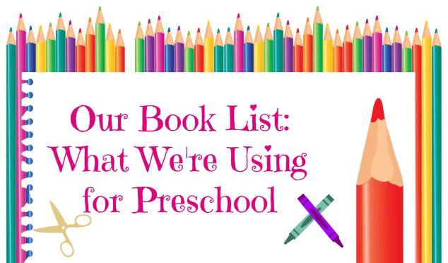 preschool booklist